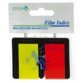 Stick index plastic transparent color 45 x 25 mm, 2 x 25 file/set